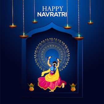 Gelukkig navratri en dandiya-feest
