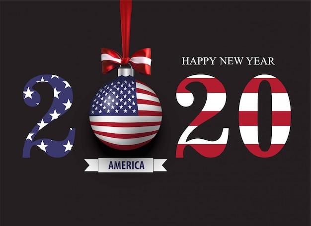 Gelukkig nieuw 2020-jaar amerika