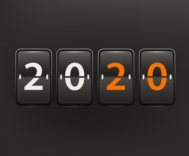 Gelukkig nieuw 2020 jaar vctor concept