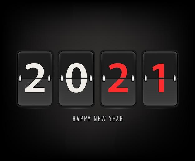 Gelukkig nieuw 2021 jaar illustratie