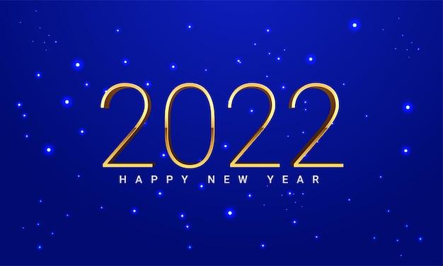 Gelukkig nieuw 2022 jaar elegante gouden tekst met licht