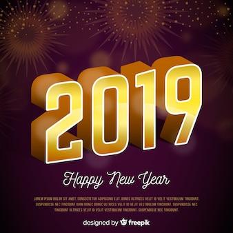 Gelukkig nieuw jaar 2019 achtergrond