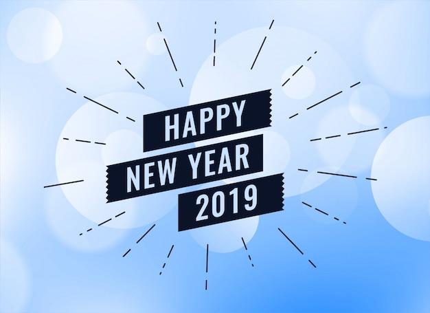 Gelukkig nieuw jaar 2019 creatieve achtergrond
