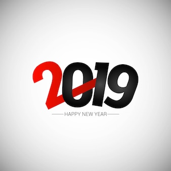 Gelukkig nieuw jaar 2019 ontwerp met witte achtergrond
