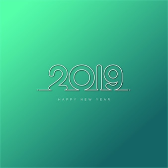 Gelukkig nieuw jaar 2019 ontwerp