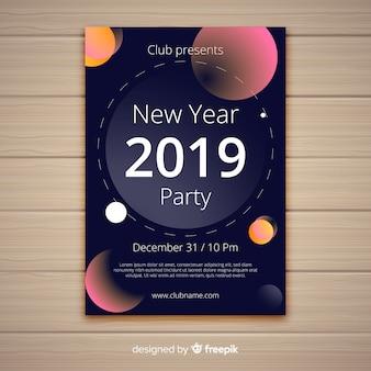Gelukkig nieuw jaar 2019 poster