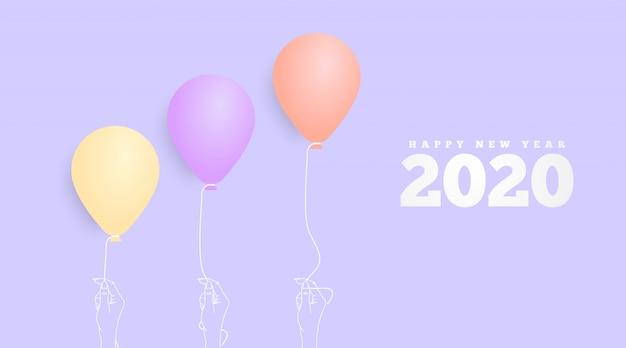 Gelukkig nieuw jaar 2020 achtergrond