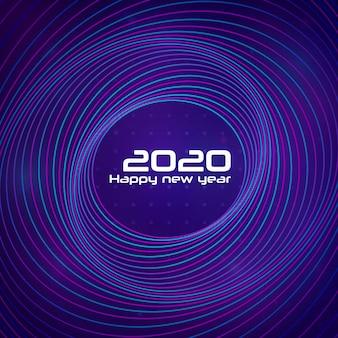 Gelukkig nieuw jaar 2020 concentrische cirkels achtergrond