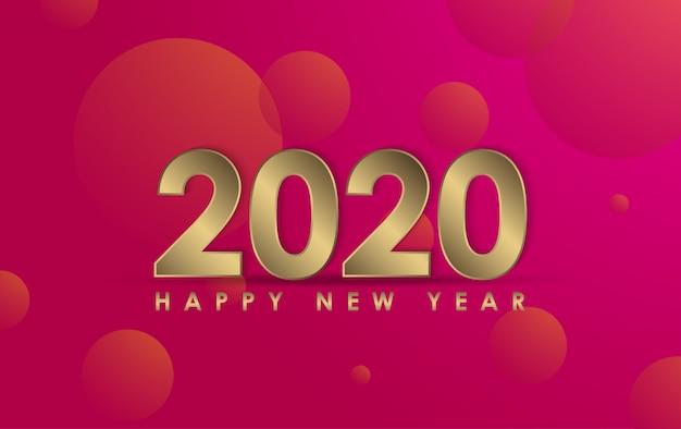 Gelukkig nieuw jaar 2020 illustratie