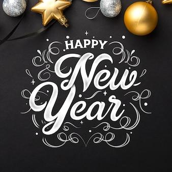 Gelukkig nieuw jaar 2020 met letters