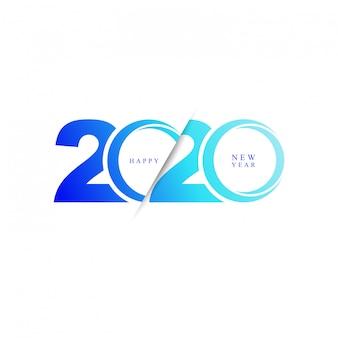 Gelukkig nieuw jaar 2020 moderne icoon
