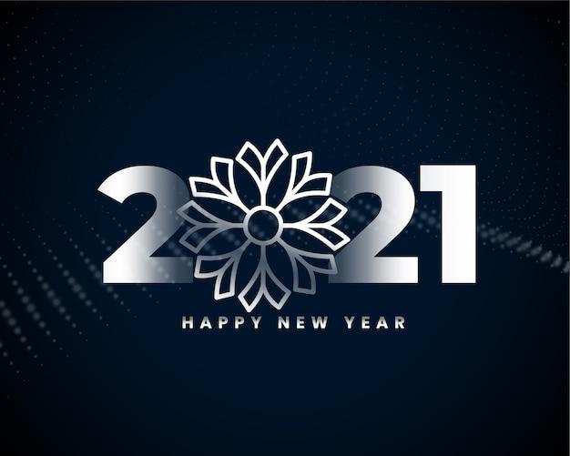 Gelukkig nieuw jaar 2021 zilveren ontwerp als achtergrond