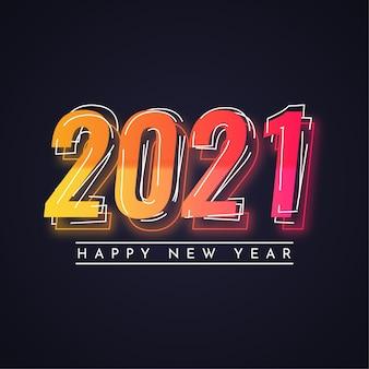 Gelukkig nieuw jaar kleurrijk