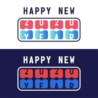 Gelukkig nieuw jaar met scorebord 2020