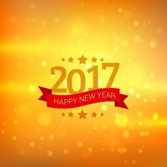 Gelukkig nieuwjaar 2017 wensen groet met bokeh achtergrond