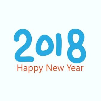 Gelukkig nieuwjaar 2018 hand getrokken