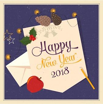 Gelukkig nieuwjaar 2018-kaart