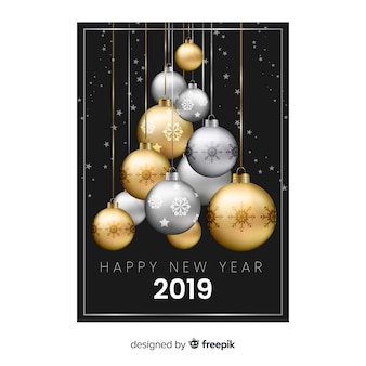 Gelukkig nieuwjaar 2019 achtergrond
