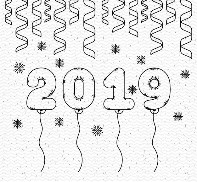 Gelukkig nieuwjaar 2019 kaart