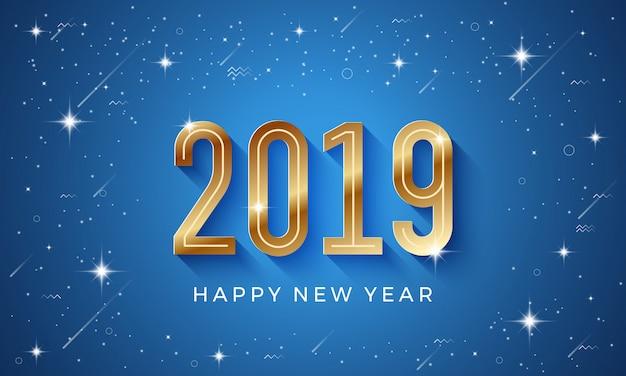 Gelukkig nieuwjaar 2019 met gouden cijfers.