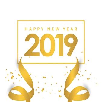Gelukkig nieuwjaar 2019 sjabloonontwerp illustratie