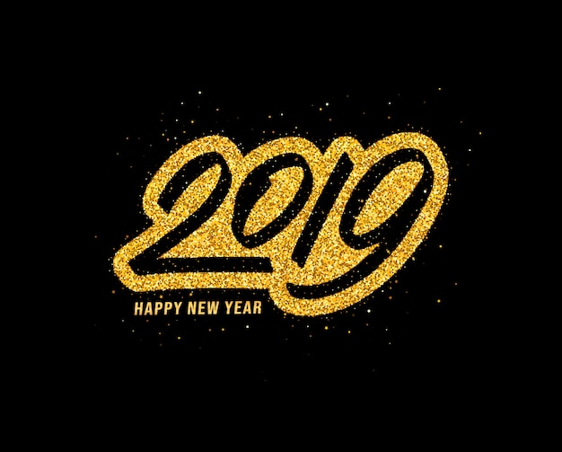 Gelukkig nieuwjaar 2019 wenskaart