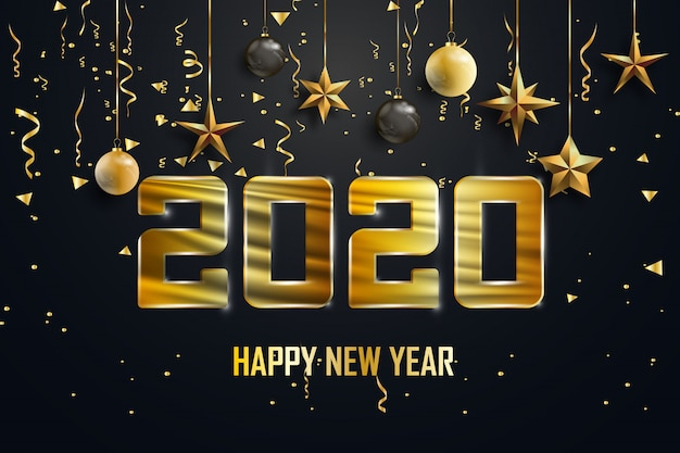 Gelukkig nieuwjaar 2020-achtergrond