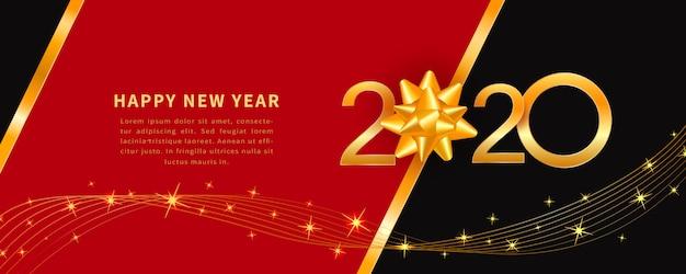 Gelukkig nieuwjaar 2020, banner,