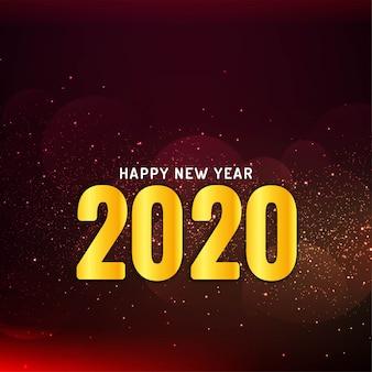 Gelukkig nieuwjaar 2020 glitter achtergrond