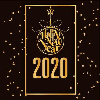 Gelukkig nieuwjaar 2020 gouden achtergrond