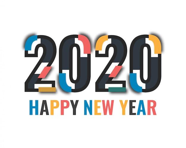 Gelukkig nieuwjaar 2020 logo tekst