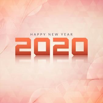 Gelukkig nieuwjaar 2020 moderne achtergrond