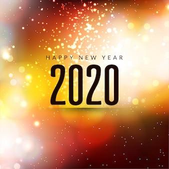Gelukkig nieuwjaar 2020 moderne sparkle achtergrond