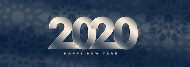 Gelukkig nieuwjaar 2020 panoramische banner