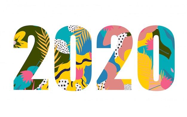 Gelukkig nieuwjaar 2020-sjabloon