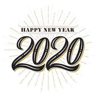 Gelukkig nieuwjaar 2020 vintage