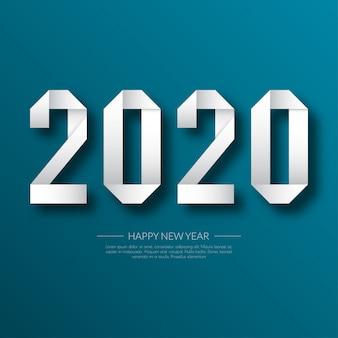 Gelukkig nieuwjaar 2020. wenskaart. abstract