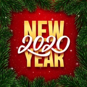 Gelukkig nieuwjaar 2020-wenskaart.
