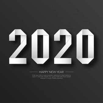 Gelukkig nieuwjaar 2020. wenskaart.