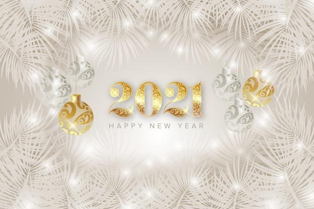 Gelukkig nieuwjaar 2021 achtergrond