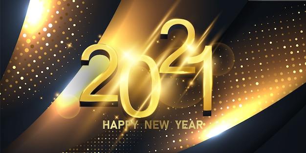 Gelukkig nieuwjaar 2021 achtergrond.