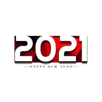 Gelukkig nieuwjaar 2021 begroeting achtergrond