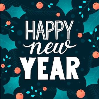 Gelukkig nieuwjaar 2021 belettering