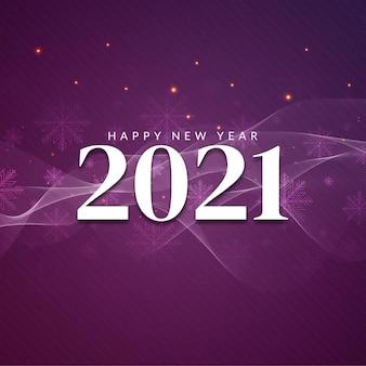 Gelukkig nieuwjaar 2021 decoratieve begroeting achtergrond