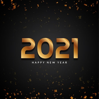 Gelukkig nieuwjaar 2021 gouden tekst moderne achtergrond