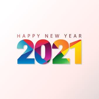 Gelukkig nieuwjaar 2021 groet Premium Vector