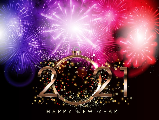 Gelukkig nieuwjaar 2021 illustratie