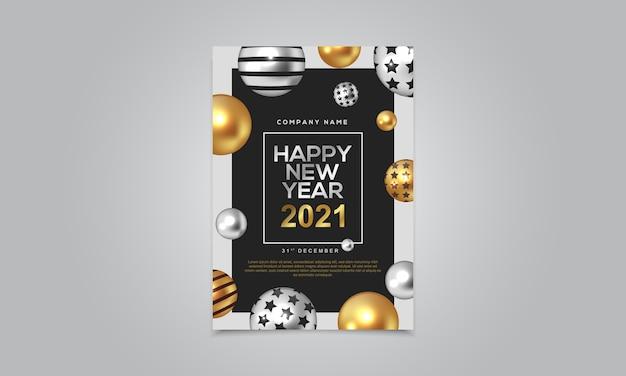 Gelukkig nieuwjaar 2021 poster