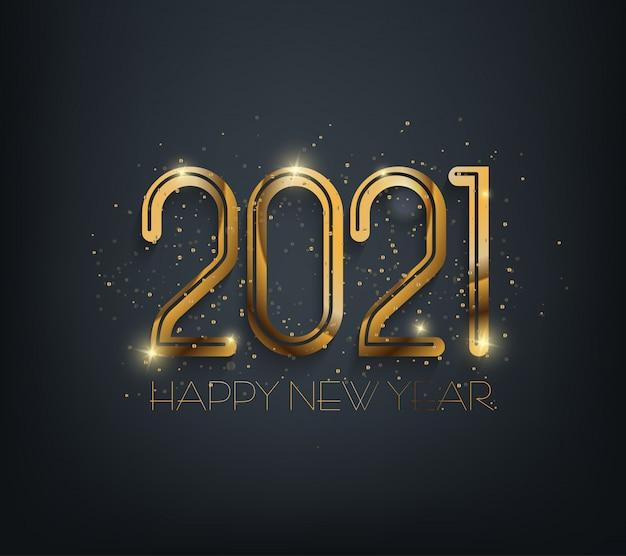 Gelukkig nieuwjaar 2021. prettige kerstdagen en gelukkig nieuwjaar vakantie symbool sjabloon.