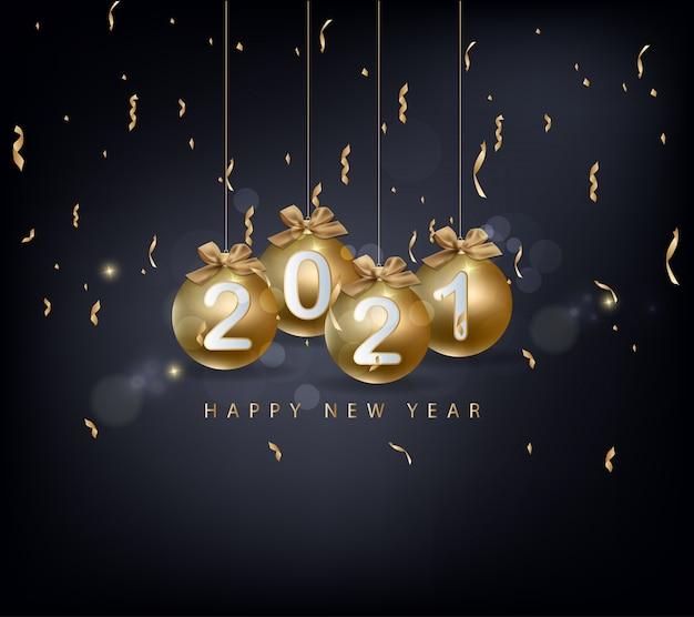 Gelukkig nieuwjaar 2021. prettige kerstdagen en gelukkig nieuwjaarsvakantie